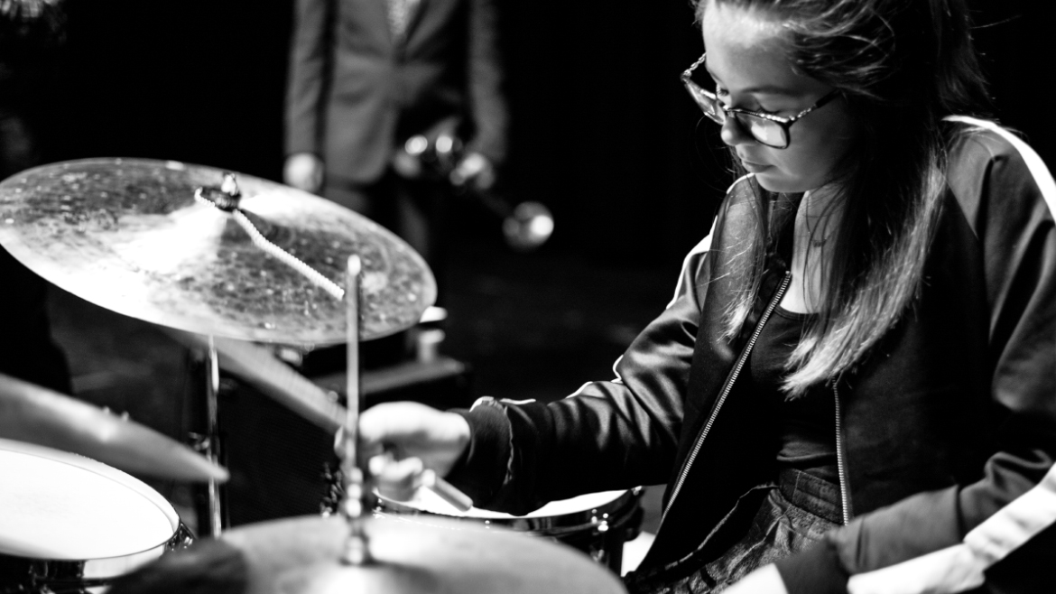 Carmen on Drums