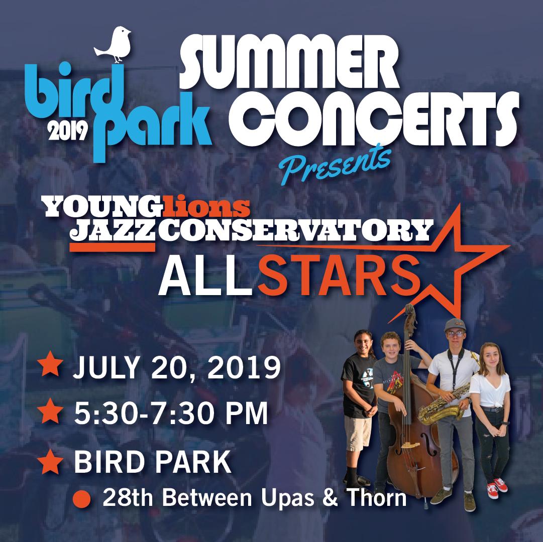 YLJC ALL STARS play BIRD PARK SUMMER CONCERTS