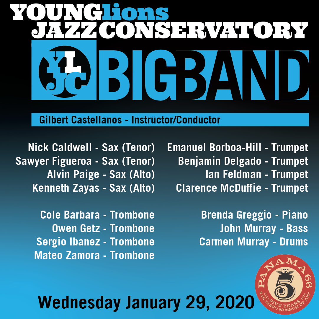 Young Lions Series Presented By Gilbert Castellanos – YLJC BIG BAND
